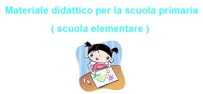 Materiale didattico scuola elementare