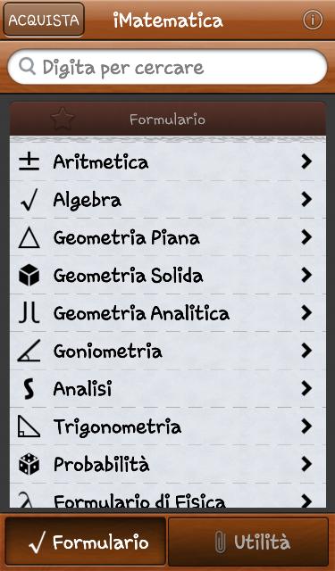 Imatematica for App per risolvere i problemi di geometria
