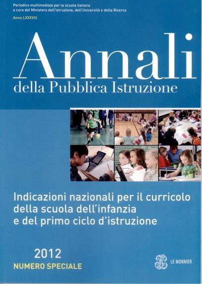 annali scuola 2012